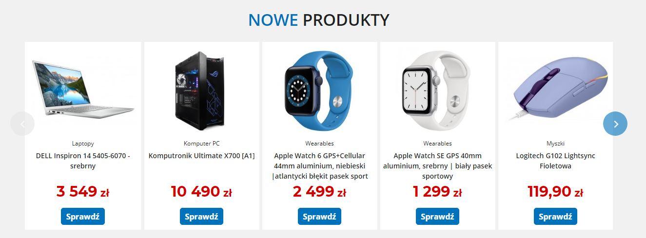 Rekomendacje komputronik nowe produkty