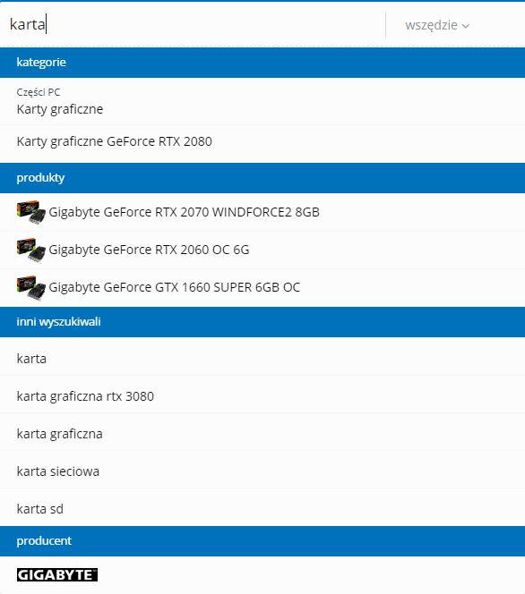 Rekomendacje komputronik wyszukiwarka